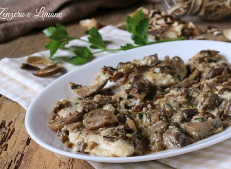 Petti di pollo ai funghi e yogurt