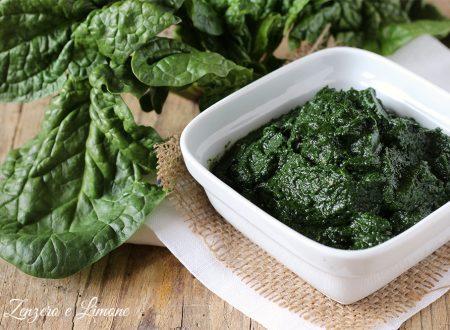 Salsa di spinaci e acciughe