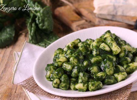 Gnocchi agli spinaci e gorgonzola