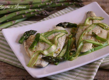 Orata con asparagi e zafferano