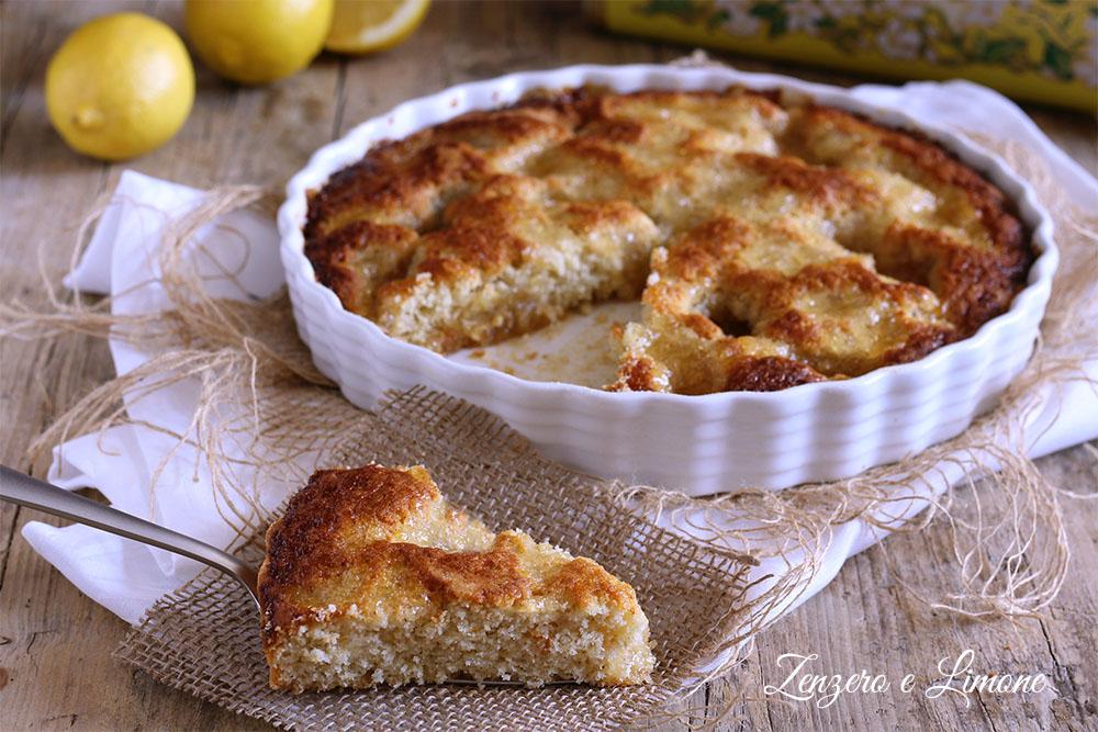 crostata morbida alla marmellata - fetta