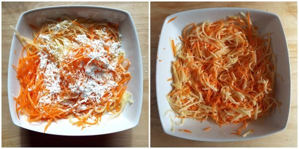 patate e carote a julienne