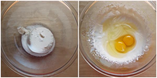torta fragole e ricotta - crema