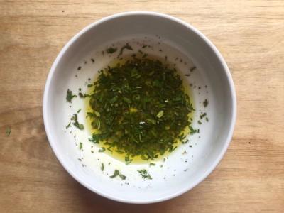 filetti trota salmonata alle erbe - emulsione