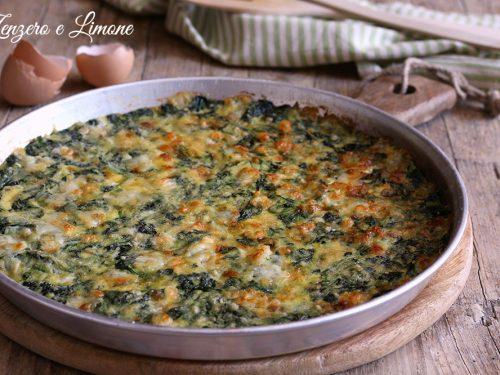 Pasticcio di spinaci e mozzarella