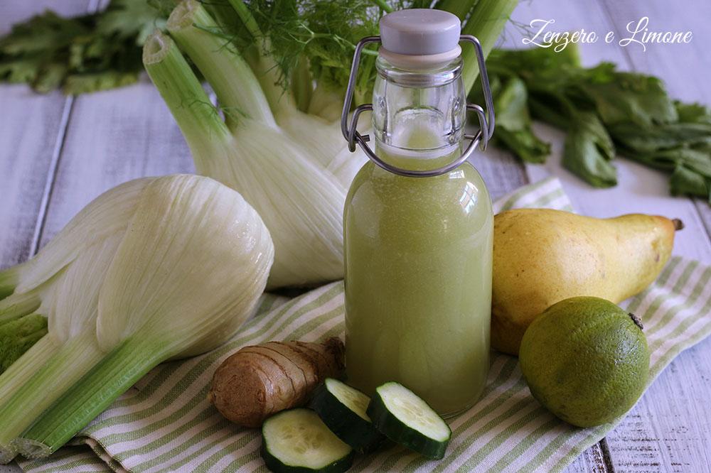 succo di verdure e pere