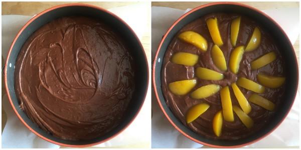 torta cioccolato e pesche - procedimento 3