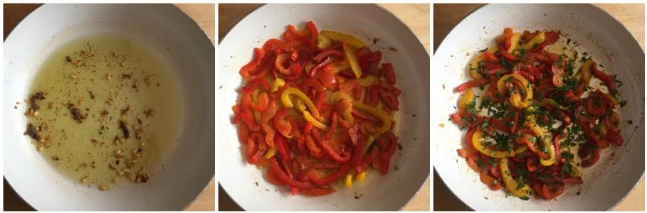 crostini ai peperoni - procedimento 1