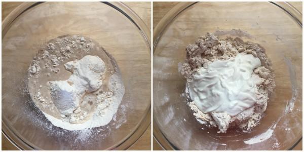 focaccine allo yogurt - procedimento 1