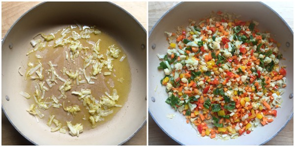 pasta verdure e curcuma - procedimento