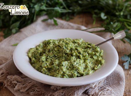 Salsa ai peperoni verdi e prezzemolo