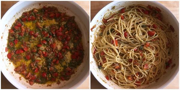 spaghetti con pomodorini - procedimento 2