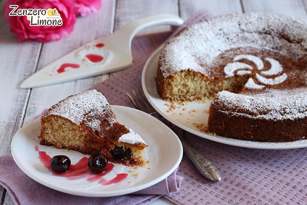 torta alle amarene - fetta