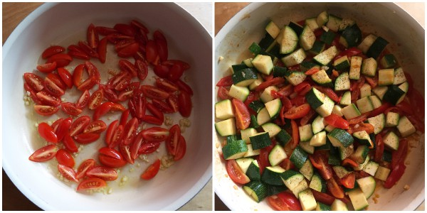 zucchine al tegame - cottura