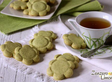 Biscotti verdi alla vaniglia