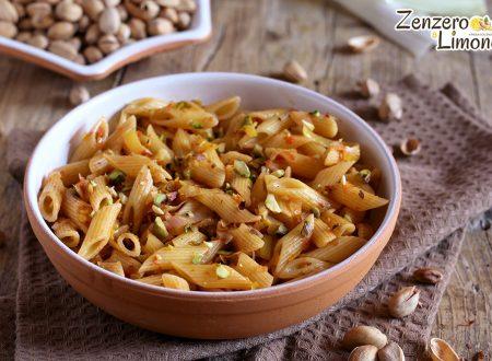 Pasta porri e pistacchi, ricetta veloce