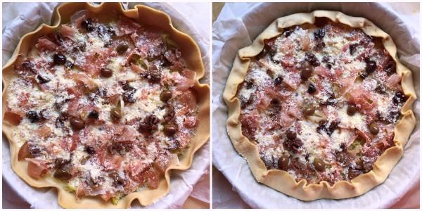 Torta salata porri speck - procedimento 4