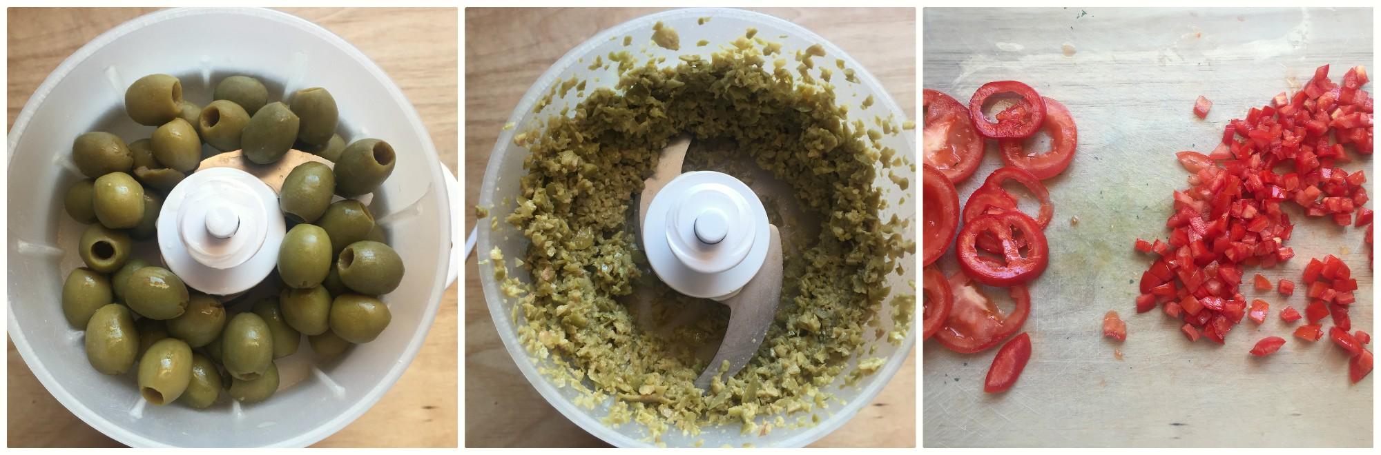 ravioli con salsa alle olive - procedimento 1