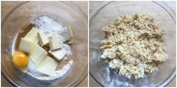torta sbriciolata alla ricotta - procedimento 1