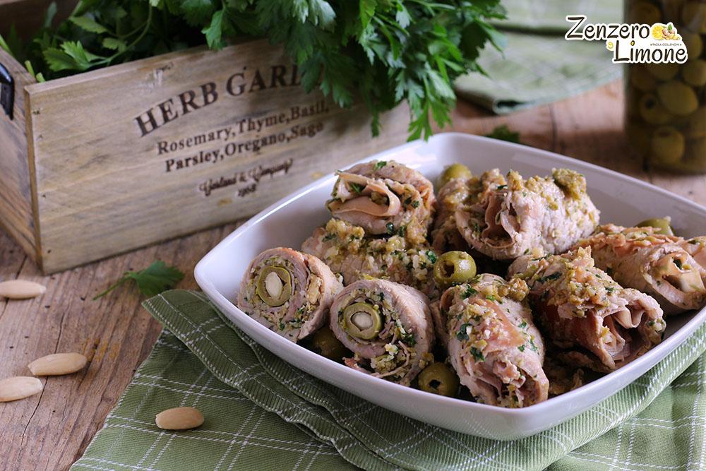 Involtini di Vitello alle Olive e Mandorle