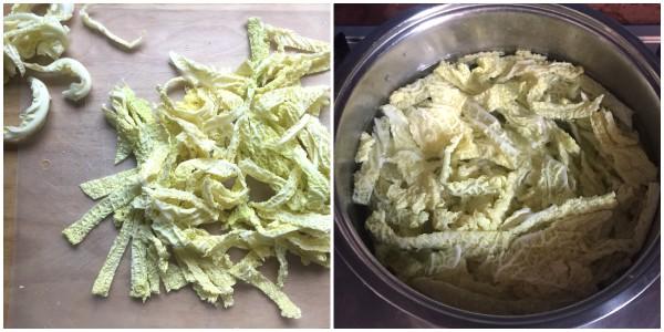 Pasta con verza - procedimento 1