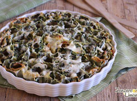 Pasta ripiena con spinaci e prosciutto