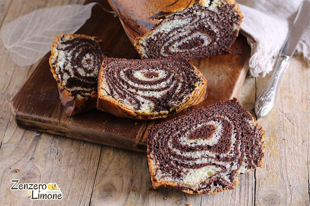 plumcake zebrato - detaglio