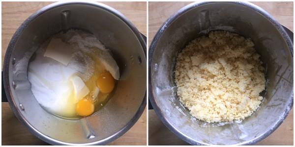 sbriciolata cocco e nutella - procedimento 1