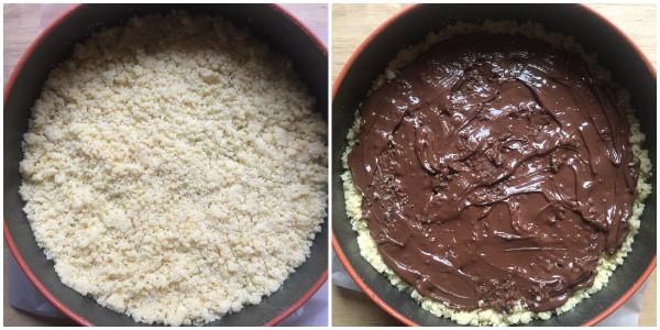 sbriciolata cocco e nutella - procedimento 2