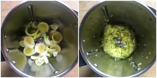 Crema di porri e patate - procedimento 1