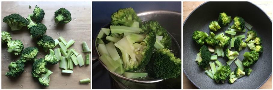Pasta con crema di broccoli - procedimento 1