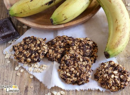 Biscotti alla banana e avena
