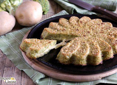 Sformato di broccolo e patate con cuore filante