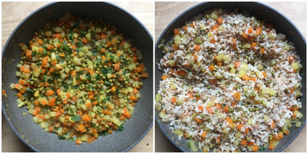 Cereali alle verdure - procedimento 4