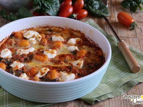 Gnocchi al pomodoro e formaggi