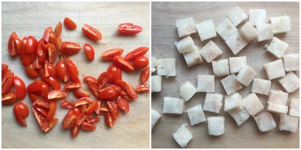 merluzzo ai pomodorini - procedimento 1