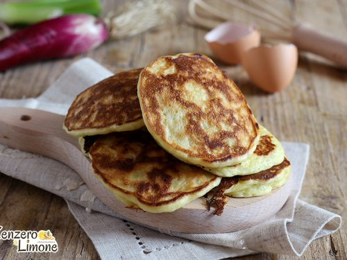 Pancakes al cipollotto