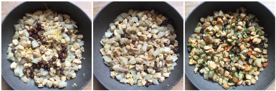 Topinambur e pollo in padella - procedimento 3