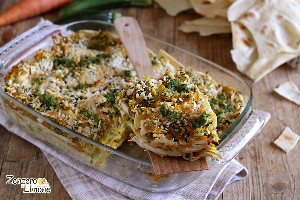 lasagne carasau alle verdure