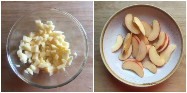 torta di mele e ricotta - procedimento 1