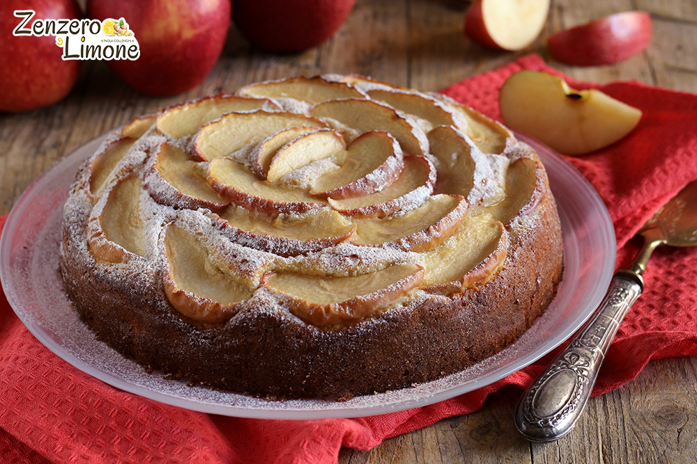 torta di mele e ricotta - intera