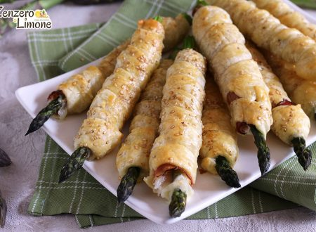 Cannoli agli asparagi, speck e formaggio