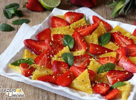 Fragole e ananas al lime