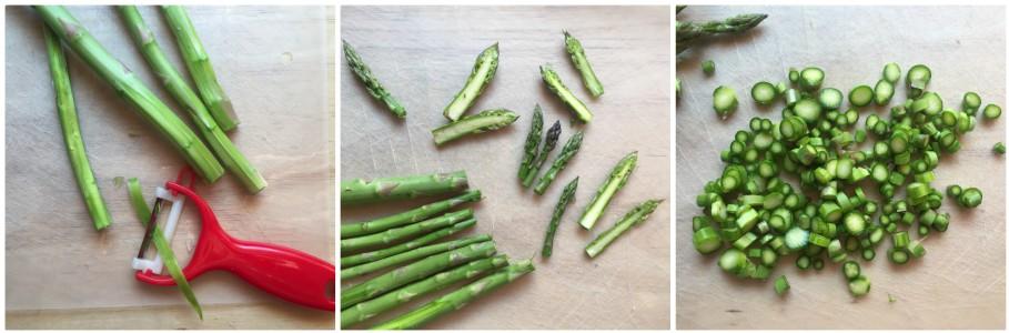 pasta agli asparagi - procedimento 1