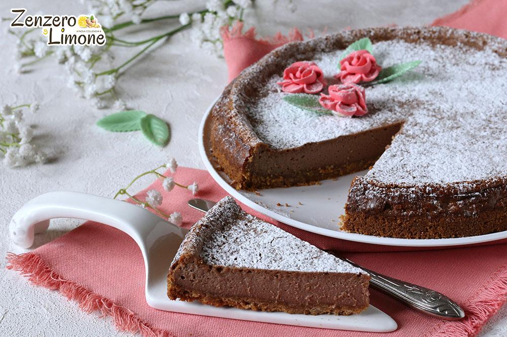 cheesecake alla nutella - fetta