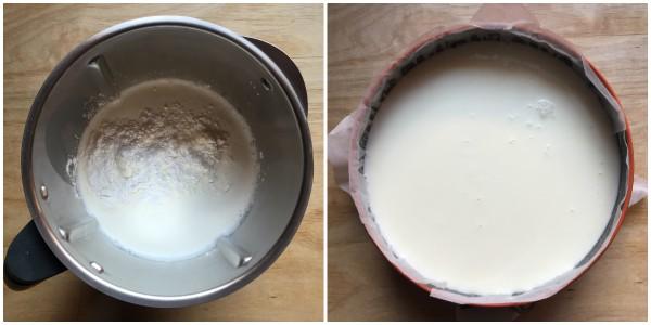 Cheesecake ai kiwi - procedimento 3