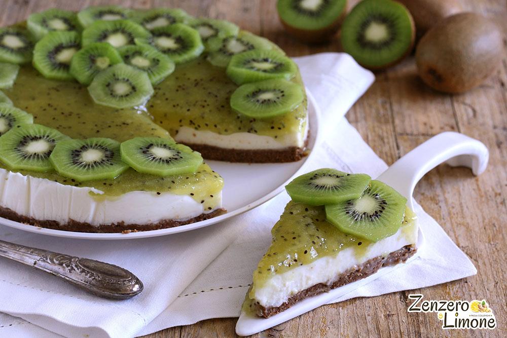 cheesecake ai kiwi - fetta