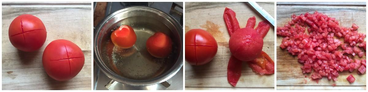 pomodori scottati e spellati