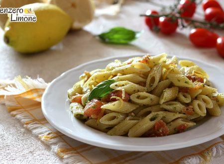 Pasta pomodoro, pesto e limone – ricetta veloce