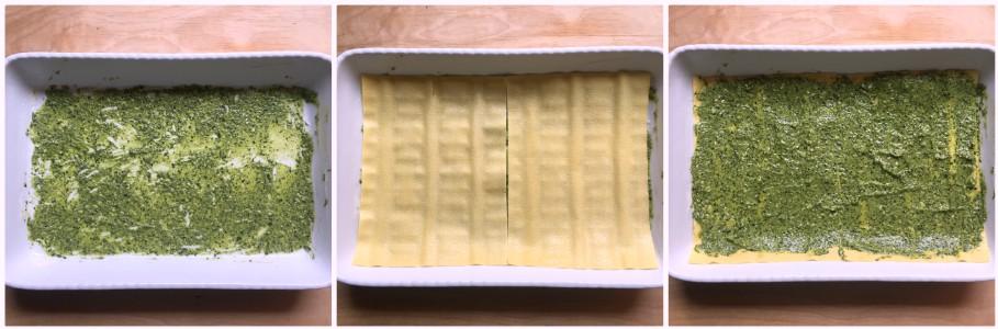 Lasagne con pesto di cavolo nero - procedimento 3